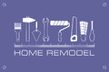 Logo Home Remodel, Icon Of Tools For Repair. Stock Photos - 81225913