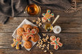 Christmas Holiday Background.Gingerbread Man Stock Images - 81234894