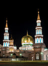 Moscow Cathedral Mosque. Night Photography. Stock Photo - 81245500