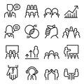 Business Consulting Icon Set In Thin Line Style Stock Photos - 81249243