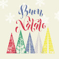Merry Christmas Italy Greeting Modern Art Card Stock Images - 81270124