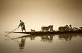 Mopti, Mali, Africa - The Port Of The City Where It Joins The Ba Stock Photography - 81273592