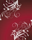 Red Floral Background Royalty Free Stock Image - 8136596