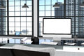 3D Rendering : Illustration Close Up Of Creative Designer Office Desktop With Blank Computer,keyboard,camera,lamp Stock Image - 81321751