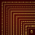 Vector Set Of Decorative Corner Borders And Frames In Gold Stock Photos - 81332163
