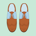 Vector Illustration With Men Fashion Shoes. Classic Brogue Shoes. Oxfords Men`s Shoes. Stock Photography - 81337372