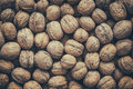 Walnuts, Top View. Retro Toned. Royalty Free Stock Image - 81343876