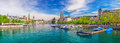 Historic Zurich City Center With Famous Fraumunster Church And Limmat River Stock Photos - 81344043