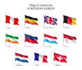 Flags Of Western Europe Countries. Royalty Free Stock Images - 81353239