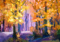 Oil Painting Landscape - Colorful Autumn Trees Stock Photo - 81369360