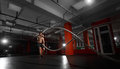 Fitness Man Working Out With Battle Ropes At A Gym Royalty Free Stock Photography - 81380087