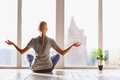 Healthy Girl Meditating With Serenity Stock Image - 81388231