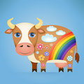Cute Cartoon Cow Stock Images - 81390254
