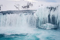 Godafoss Waterfall In Iceland During Winter Stock Photo - 81453710