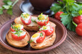 Baked Eggs In Tomato Cups. Stock Images - 81475864