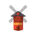 Isolated Windmill Tower Royalty Free Stock Image - 81516316