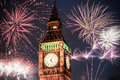 New Year In The City - Big Ben With Fireworks Stock Photos - 81522193