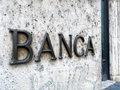 Bank Entrance Sign Marble Wall Royalty Free Stock Photography - 81601157