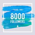 Vector Thanks Design Template For Network Friends And Followers. Thank You 8 K Followers Card. Image For Social Networks. Web User Royalty Free Stock Photo - 81646365