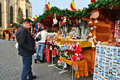 People Shop Gifts For Christmas At Market Stalls Royalty Free Stock Photo - 81649385