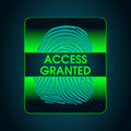 The Result Of The Fingerprint Scan Access Is Granted Stock Photos - 81649603