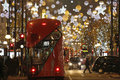 Christmas Lights Display On Oxford Street In London Royalty Free Stock Photos - 81651218