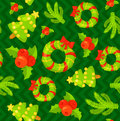 Seamless Pattern With Cute Cartoon Christmas Mittens Royalty Free Stock Image - 81655316