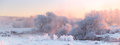Bright Winter Sunrise. White Frosty  Trees In Christmas Morning. Stock Images - 81669024