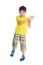 Cheerful Little Boy Stock Images - 81675764