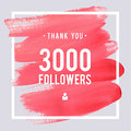 Vector Thanks Design Template For Network Friends And Followers. Thank You 3 Followers Card. Image For Social Networks. Web User C Royalty Free Stock Images - 81681999