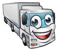 Cartoon Truck Lorry Transport Mascot Character Royalty Free Stock Images - 81686799