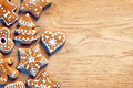Gingerbread Cookies On Wooden Table.  Merry Christmas And Happy New Year!! Royalty Free Stock Photo - 81690535