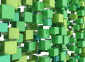 3D Cubes Background Green Stock Photo - 81691290