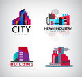 Vector Set Of Colorful Building Logos, Icons. Industry , City Stock Images - 81692024