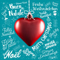 Merry Christmas Greetings Card From World In Different Languages Royalty Free Stock Photos - 81693898