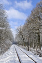 Railway Line In Winter Royalty Free Stock Image - 8177506