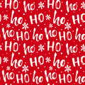Hohoho Pattern, Santa Claus Laugh. Seamless Texture For Christmas Design. Royalty Free Stock Photos - 81724788