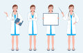 Set Of Four Female Doctors Royalty Free Stock Photography - 81725757
