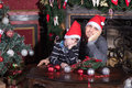 Family Father And Son Sad On Christmas Eve. Royalty Free Stock Photography - 81725967