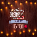 Card Merry Christmas And Happy New Year Stock Image - 81730401