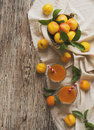 Fresh Apricot Juice In Glass On Wooden Table, Selective Focus Stock Photography - 81731812