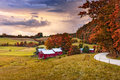 Vermont Farmlands In Autumn Royalty Free Stock Photo - 81754535