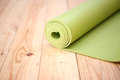 Green Twisted Mat For Fitness Royalty Free Stock Photo - 81760275
