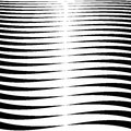 Horizontal Lines, Stripes - Waving, Wavy Lines From Thick  Royalty Free Stock Image - 81761536