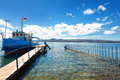 Sevan Lake And White Clouds Blue Sky On A Sunny Day, Armenia Royalty Free Stock Image - 81762376