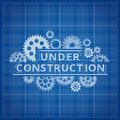 Blueprint Website Backdrop. Under Construction Blue Print Background Royalty Free Stock Photos - 81776608