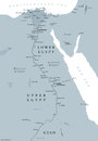 Ancient Egypt Map Gray Colored Stock Photo - 81786380