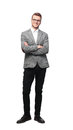 Full Body Picture Of A Business Man With Arms Crossed On White Background Stock Images - 81789594