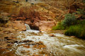 Waterfall At Capital Reef National Park Royalty Free Stock Photography - 8180177