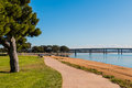 Path Through Vacation Isle Park In San Diego With Bridge Stock Photography - 81805992